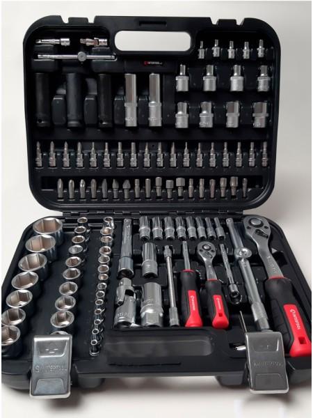 """Набор инструментов для авто 111 ед. 1/2"""" & 1/4"""" Cr-V Intertool ET-8111"""