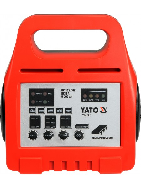Зарядное устройство для авто 230 Вольт. Yato YT-8301