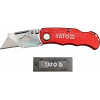 Строительный выдвижной нож с трапециевидным лезвием Yato YT-7532