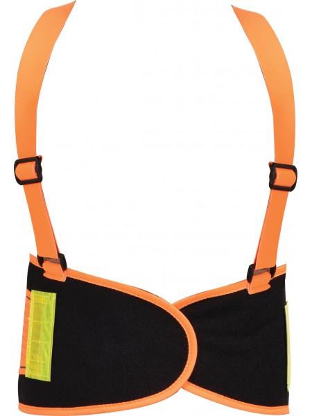Пояс для поддержки спины эластичный с увеличенной видністю (зеленый), 125х 20 см, размер XL Yato YT-74242