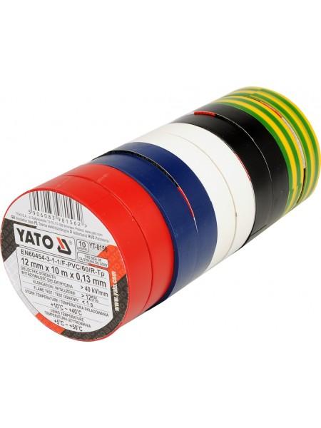 Набор цветной изоленты 10 метров Yato YT-8156