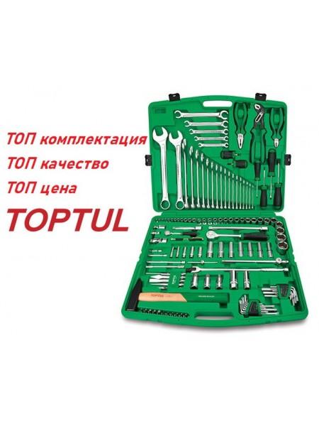 "Набор инструмента комбинированный 1/4""&1/2"", ключи 6-32мм, 130ед. TOPTUL GCAI130T"