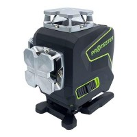 Лазерный уровень PREMIUM, 4x360°(2xH360/2xV360, LCD-дисплей, Bluetooth, пульт ДУ - зеленый луч) PROTESTER