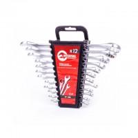 Набор ключей комбинированных 12ед, 6-22мм CrV, Intertool HT-1203