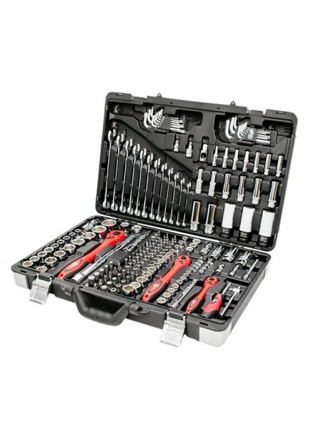 Профессиональный набор инструментов 1/4, 3/8, 1/2, 176 ед, INTERTOOL ET-7176