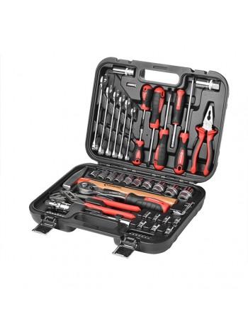 Набор инструментов для дома и авто 56 ед.  INTERTOOL ET-8056