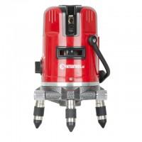 Уровень лазерный профессиональный, 5 лазерных головок, звуковая индикация, INTERTOOL MT-3011