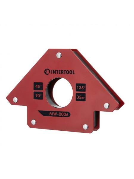 Держатель магнитный для сварки стрела, 45°, 90°,135°, 35 кг, 110×120×25 мм INTERTOOL MW-0006