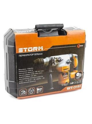 Перфоратор STORM 1300Вт, 3 режима, 0-800об/мин, 0-3150уд/мин, INTERTOOL WT-0151