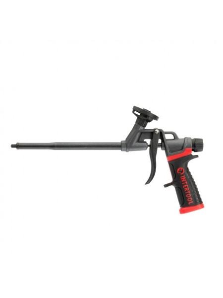 Пистолет для монтажной пены с полным тефлоновым покрытием профессиональный + 4 насадки INTERTOOL PT-0610