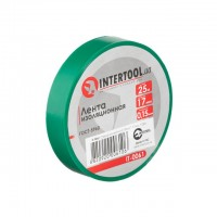 Лента изоляционная 0.15мм*17мм*25м зеленая INTERTOOL IT-0061