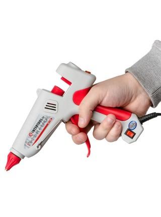 Пистолет клеевой 100(300)Вт, 230В, 215-230°C под стержни 10.8-11.5мм, 13-30 г/мин., выключатель INTERTOOL RT-1106