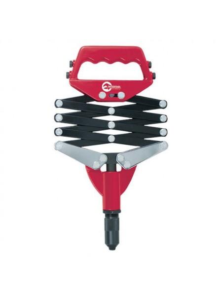 Заклепочник со складным рычажным механизмом, диаметр заклепки 2,8; 3,2; 4; 4,8 мм INTERTOOL RT-0007