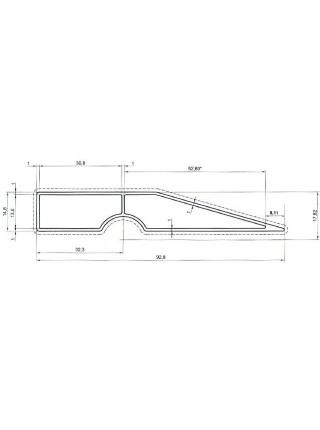 Правило трапециевидное 250 см INTERTOOL MT-2225
