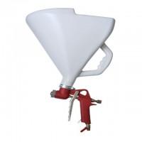 Штукатурный распылитель+три форсунки 4;6;8мм, пластиковый бак, 9000 мл, 3-6b, Intertool PT-0403