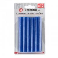 Комплект голубых клеевых стержней 11.2мм*100мм, 12шт. INTERTOOL RT-1052