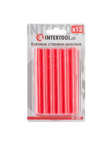 Комплект красных клеевых стержней 11.2мм*100мм, 12шт. INTERTOOL RT-1041