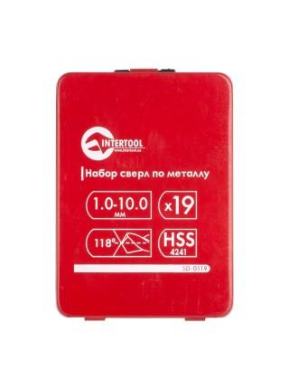 Набор сверл по металлу HSS 19 шт (1.0-10.0) INTERTOOL SD-0119