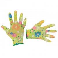 """Перчатки садовые с нитриловым покрытием 8"""" зеленые INTERTOOL SP-0163"""