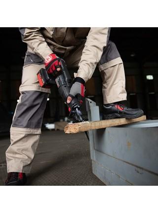Брюки трансформер рабочие с лямками 6 в 1, 100 % хлопок, плотность 180 г/м2, M INTERTOOL SP-3042