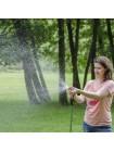 Пистолет-распылитель для полива с плавной регулировкой потока воды. ABS, PP, TPR, ZINC ALLOY, BRASS INTERTOOL GE-0012