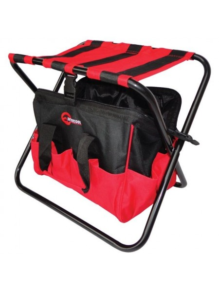 Складной стул с сумкой, универсальный до 90кг, 420х310х360мм, Intertool BX-9006