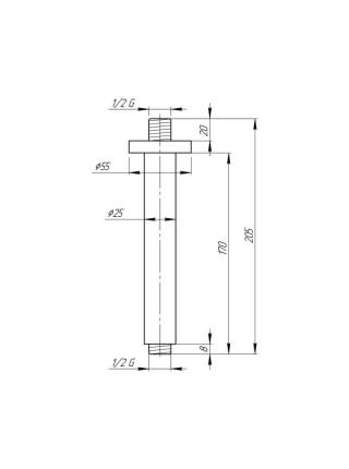 Кронштейн для верхнего душа Q-tap 0012 CRM