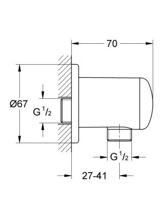 Подключение шланга Grohe Relexa plus 28671000