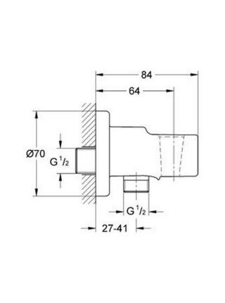 Подключение шланга Grohe Relexa 28628000