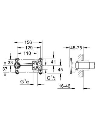 Механизм смесителя скрытого монтажа Grohe 23200000