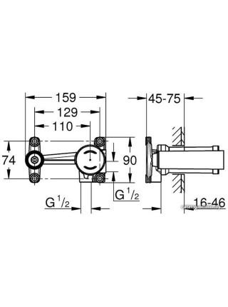 Встраиваемый механизм под смеситель Grohe 23571000