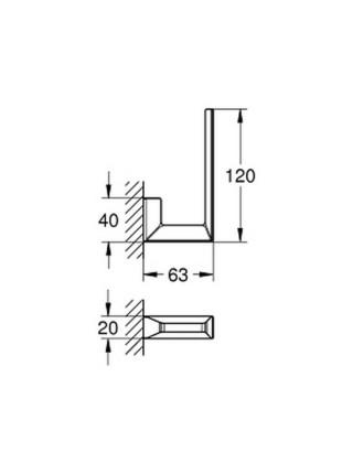 Держатель для запасной туалетной бумаги Grohe Selection Cube 40784000