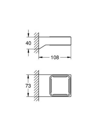 Держатель для аксессуаров Grohe Selection Cube 40865000
