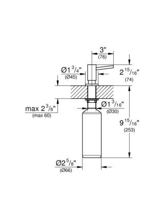 Дозатор для моющего средства  Grohe  Cosmopolitan  40535000