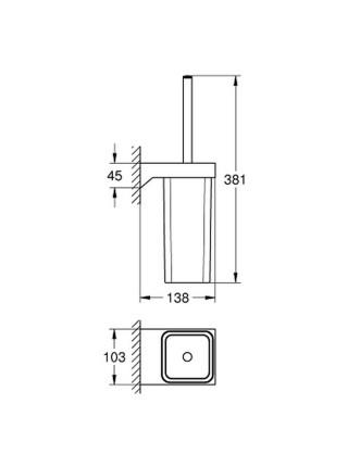 Ершик для унитаза Grohe Selection Cube 40857000