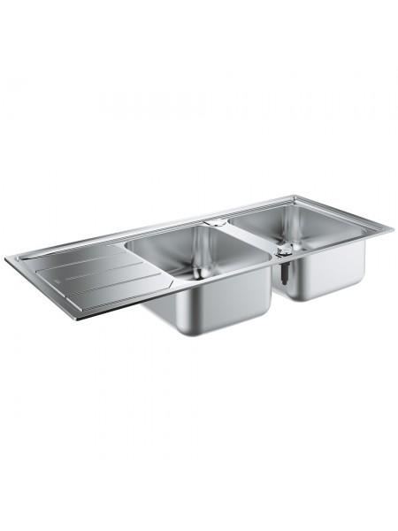 Кухонная мойка GroheEXSinkK500 двойная с крылом 31588SD0