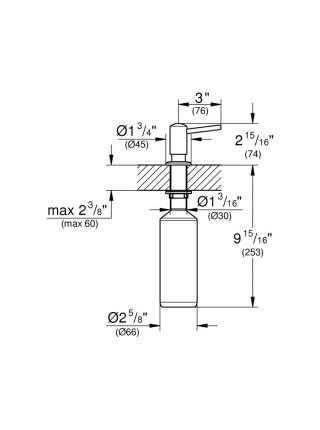 Дозатор для моющего средства  Grohe  Contemporary 40536DC0