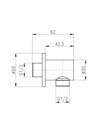Кронштейн для гигиенического душа Q-tap B030 CRM