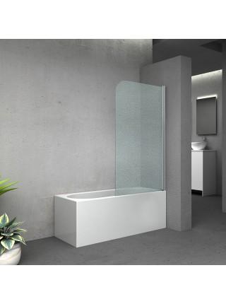 Штора на ванну Lidz Brama SS80x140R.CRM.FR стекло Frost 6 мм, правая