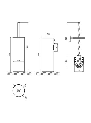 Ершик для унитаза Q-tap Liberty BLM 1150