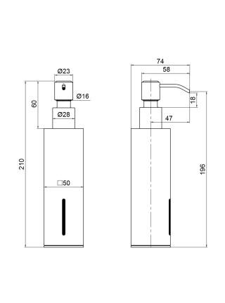 Дозатор для жидкого мыла Q-tap Liberty BLM 1152-2