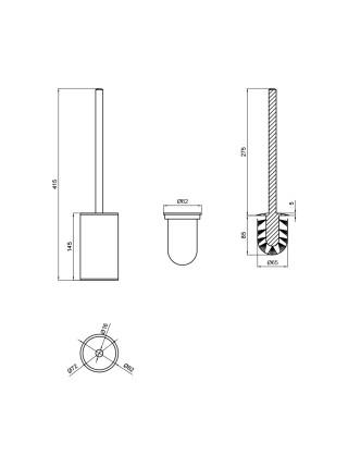 Ершик для унитаза Q-tap Liberty BLM 1157-1