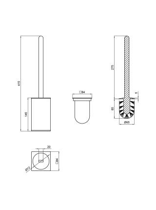 Ершик для унитаза Q-tap Liberty ANT 1157-2