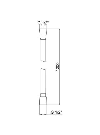 Шланг для душа Qtap Hadice PVC120C