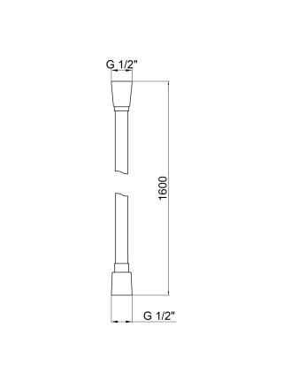 Шланг для душа Qtap Hadice PVC160B