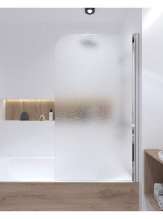 Штора на ванну Lidz Brama SS80x140L.CRM.FR стекло Frost 6 мм, левая