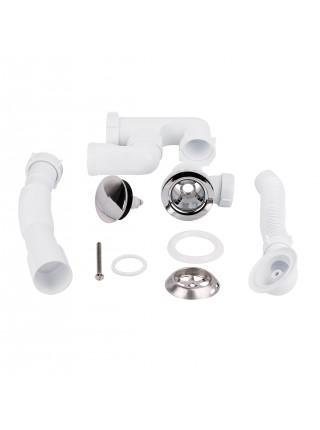 Сифон для ванны Lidz (WHI) 60 03 V002 02 с ревизией (выход 50 мм)