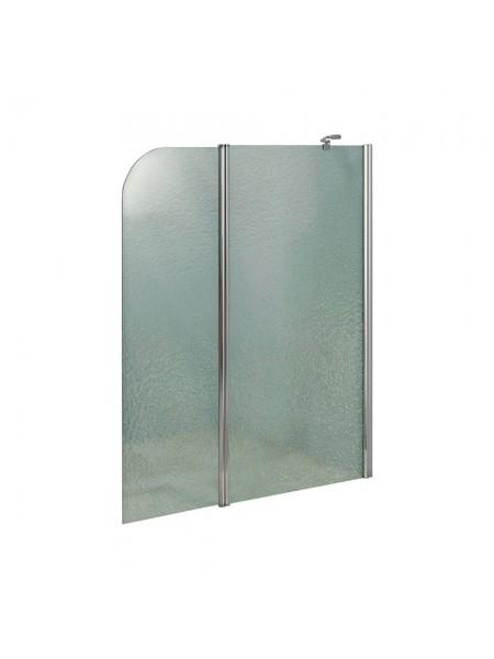 Штора на ванну Lidz Brama SS120x140R.CRM.FR стекло Frost 6 мм, правая