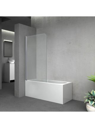 Штора на ванну Lidz Brama SS80x140L.CRM.TR стекло прозрачное 6 мм, левая