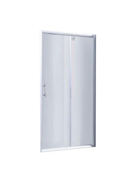 Душевая дверь в нишу Lidz Zycie SD100x185.CRM.TR, стекло прозрачное 5 мм